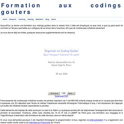 Formation aux codings gouters