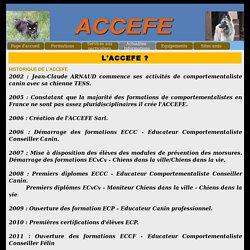 L'ACCEFE ? - Formation éducateur canin comportementaliste canin et félin ACCEFE