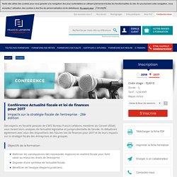 Formation Conférence Actualité fiscale et loi de finances pour 2017