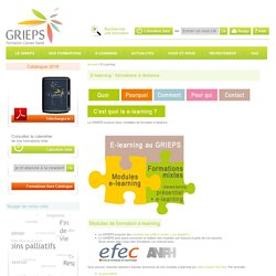 Formation continue soignants a distance : E-Learning Grieps