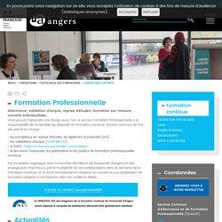 Formation continue - Université Angers