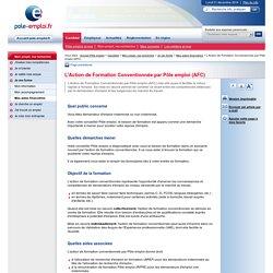 L'Action de Formation Conventionnée par Pôle emploi (AFC)