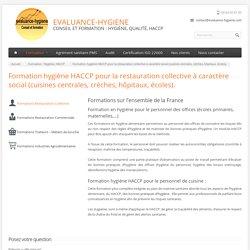 Formation hygiène HACCP cuisines centrales, crèches, hôpitaux, écoles