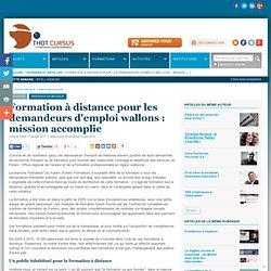 Formation à distance pour les demandeurs d'emploi wallons : mission accomplie : Articles : Thot Cursus