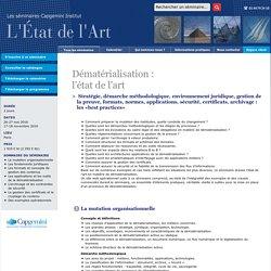 Formation Dématérialisation - Capgemini Institut