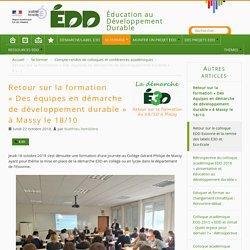 Retour sur la formation « Des équipes en démarche de développement durable » à Massy le 18/10