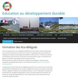 Formation des éco-délégués – Education au développement durable