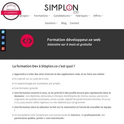 Formation Développeur.se Web