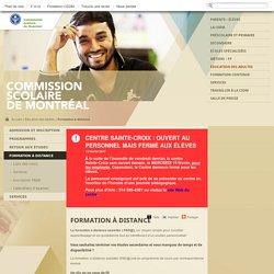 Formation à distance - Commission scolaire de Montréal (CSDM)