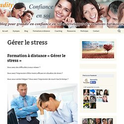 Formation à distance gestion du stress