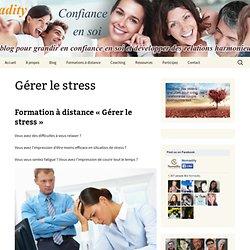 Formation à distance gestion du stress