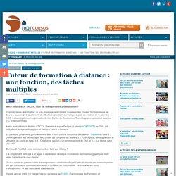 Tuteur de formation à distance : une fonction, des tâches multiples