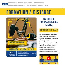 Formation à distance: podcast audio (les bases) - Samsa.fr