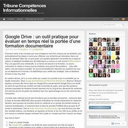 Google Drive : un outil pratique pour évaluer en temps réel la portée d'une formation documentaire