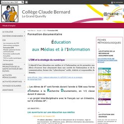 Collège Claude Bernard - Le Grand Quevilly - Formation documentaire