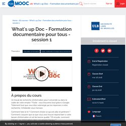 What's up Doc - Formation documentaire pour tous - session 1