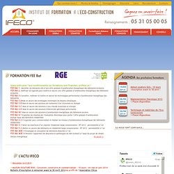 FORMATION à L'ECOCONSTRUCTION : IFECO