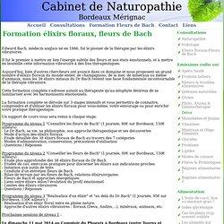 Formation élixirs floraux Dr Bach