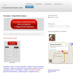 "Formation ""Objectif B2I Adultes"" - Emmanuelle Menny Fleuridas"