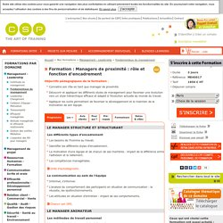 Formation Managers de proximité : rôle et fonction d'encadrement - CSP
