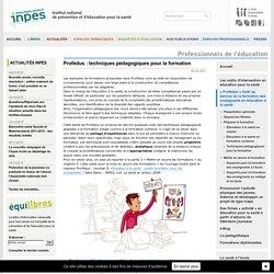 « Profédus » Outil au service de la formation des enseignants en éducation à la santé