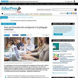 Pour une formation des enseignants à la pédagogie numérique