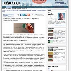 Formation des enseignants au numérique : la pratique déclenche la réflexion