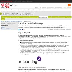 Label de qualité e-learning (E-learning, formation, enseignement)