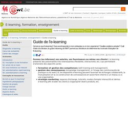 Guide de l'e-learning à l'usage des PME (E-learning, formation, enseignement)