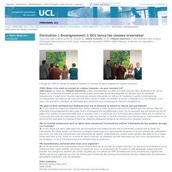 Enseignement: L'UCL lance les classes inversées!