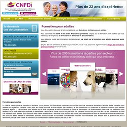 Formation adultes, formation continue, formation fongecif, formation CIF - CNFDI centre formation enseignement à distance