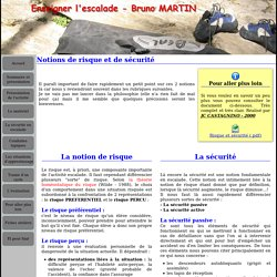 Formation Escalade - Bruno MARTIN