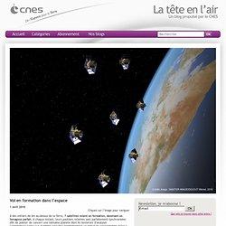 Vol en formation dans l'espace