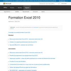 Formation Excel 2010 - Excel