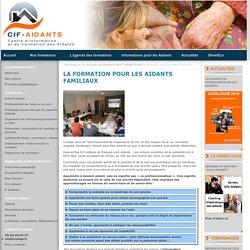 La formation pour les Aidants familiaux NOS FORMATIONS - CIF Aidants