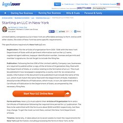 New York LLC Guide: Start an LLC in New York - Formation, Filing, Fees, and More