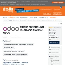 Formation Cursus Fonctionnel - Panorama complet Odoo / SI Métier / Smile Training