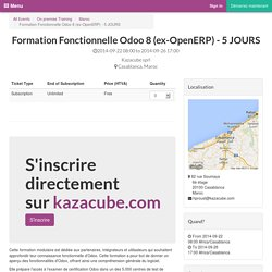 Odoo - Formation Fonctionnelle Odoo 8 (ex-OpenERP) - 5 JOURS