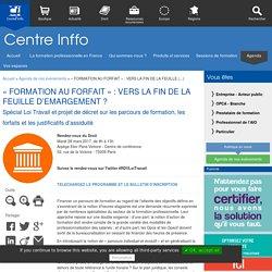 « FORMATION AU FORFAIT » : VERS LA FIN DE LA FEUILLE D'EMARGEMENT (...)