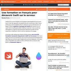 Une formation en français pour découvrir Swift sur le serveur