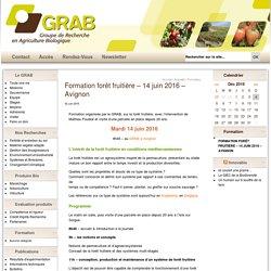 Formation forêt fruitière – 14 juin 2016 – Avignon
