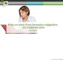 Prise en main d'une formation m@gistère - DUCODIFAD2014