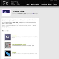 Formation After Effects gratuite - e-learning pour débuter