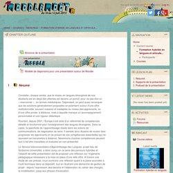 Course: Formation hybride en langues et articulation avec Moodle : l'exemple du SIAL