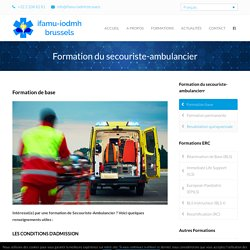 Formation base – ifamu-iodmh.brussels