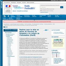 Repères pour la mise en œuvre du Parcours de formation à la culture de l'information (Pacifi) — Enseigner avec le numérique