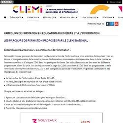 Parcours de formation en éducation aux médias et à l'information- CLEMI