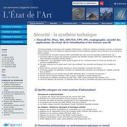 Formation Sécurité Informatique : la synthèse technique Capgemini Institut