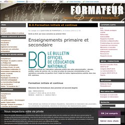B.O.Formation initiale et continue