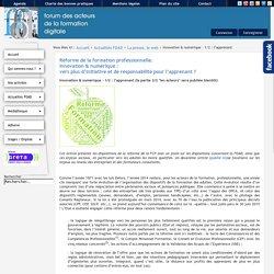 FFFOD, le forum des acteurs de la formation digitale - Innovation & numérique - 1/2 : l'apprenant